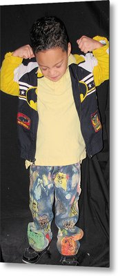 Painted Boys Jeans Metal Print by HollyWood Creation By linda zanini