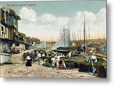 Panama City: Beach Market Metal Print by Granger