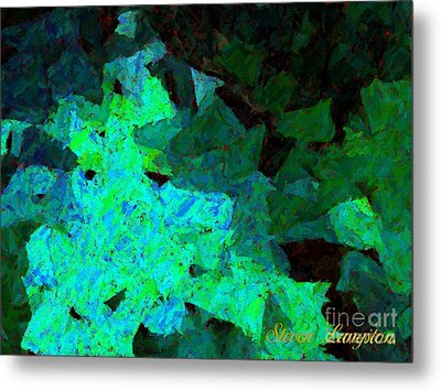 Metal Print featuring the painting Paper Light by Steven Lebron Langston
