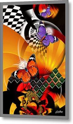 Papillon Pachouli Metal Print by Satish Verma
