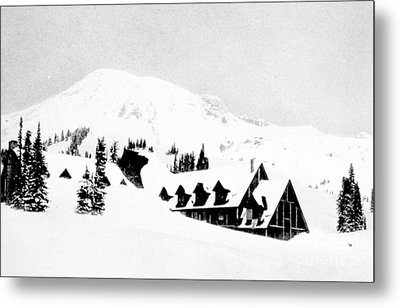 Paradise Inn Buried In Snow, 1917 Metal Print by Science Source