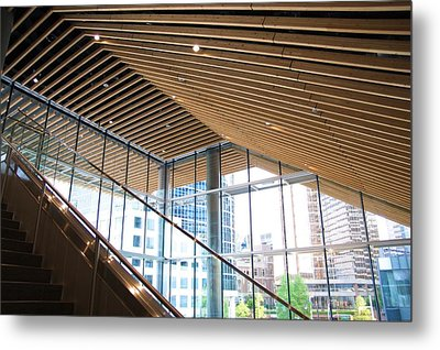 Metal Print featuring the photograph Parallel Beams by JM Photography