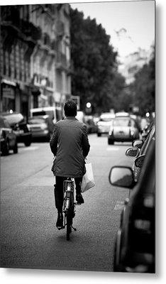 Paris By Bike Metal Print by Edward Myers