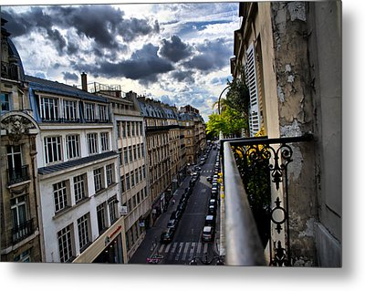 Paris From A Balcony Metal Print by Edward Myers