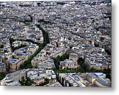 Paris From Above 2 Metal Print by Edward Myers