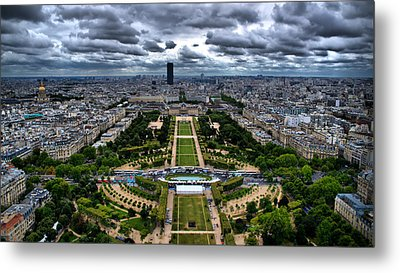 Paris From Above Metal Print by Edward Myers