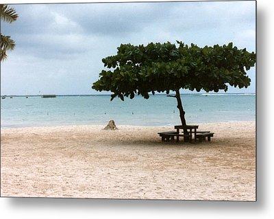 Metal Print featuring the photograph Park Bench by Tanya Tanski
