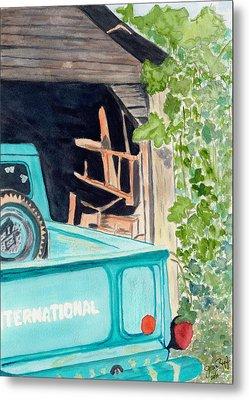 Pa's Truck Metal Print