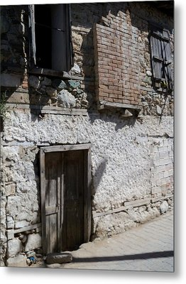 Past Forgotten Metal Print by Sandy Collier