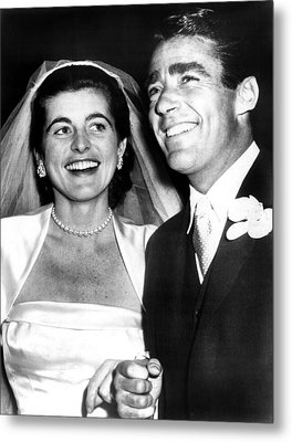 Patricia Kennedy Lawford And Husband Metal Print by Everett