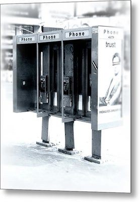 Pay Phones - Still In Nyc Metal Print