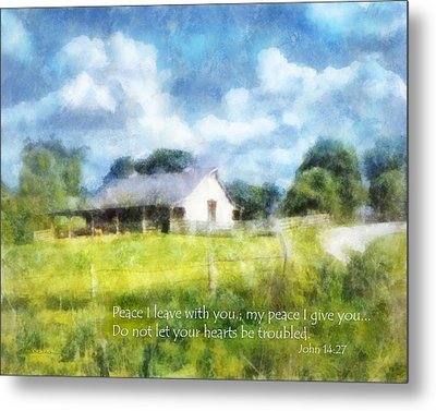 Peace Be With You Metal Print by Francesa Miller