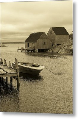Peggys Cove In Sepia Metal Print by Richard Bryce and Family