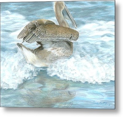 Pelican Surf Metal Print