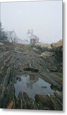 Pemaquid Reflection Metal Print by Mary Hershberger