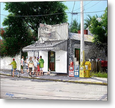 Pepe's Cafe Key West Florida Metal Print by Bob  George