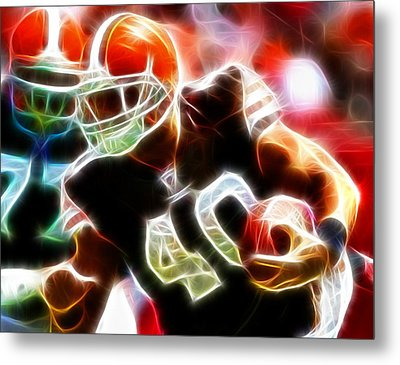 Peyton Hillis Magical Metal Print by Paul Van Scott