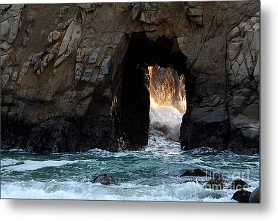 Pfeiffer Rock Big Sur Metal Print by Bob Christopher