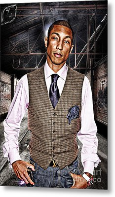 Pharrell Metal Print by The DigArtisT