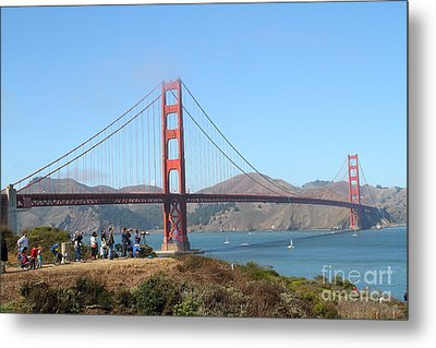 Photographing The San Francisco Golden Gate Bridge . 7d7787 Metal Print by Wingsdomain Art and Photography