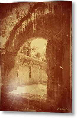 Photos In An Attic - The Ruins Metal Print by Leslie Revels Andrews