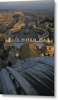 Piazza San Pietro As Seen From The Dome Metal Print by James L. Stanfield