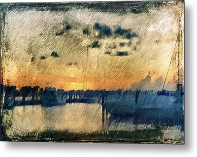 Pier At Sunset Metal Print by Andrea Barbieri