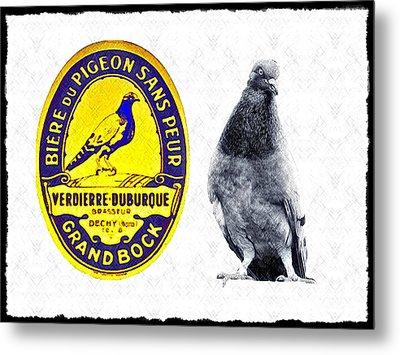 Pigeon Grand Bock Metal Print by Bill Cannon