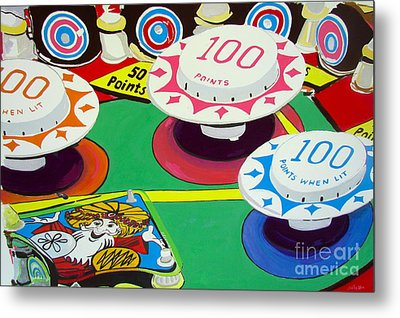 Metal Print featuring the painting Pinball Wizard by Beth Saffer