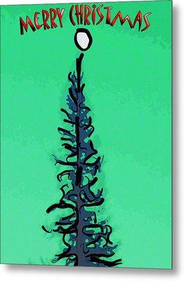 Pine Tree Christmas Metal Print by Rob Tullis