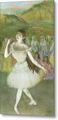 Pink Dancer  Metal Print by Edgar Degas
