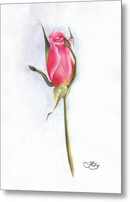 Pink Rose Metal Print by Muna Abdurrahman