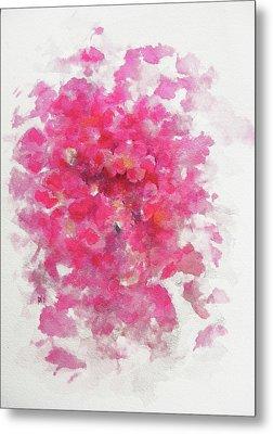Pink Rose Metal Print by Rachel Christine Nowicki