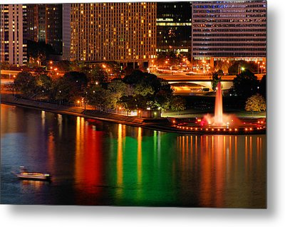 Metal Print featuring the photograph Pittsburgh At Night by Michelle Joseph-Long