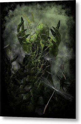 Plant Man Cometh Metal Print by Michael Knight