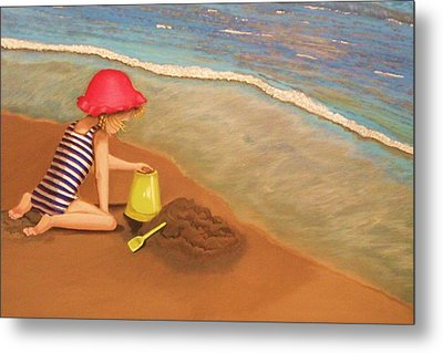 Playing On The Beach Metal Print