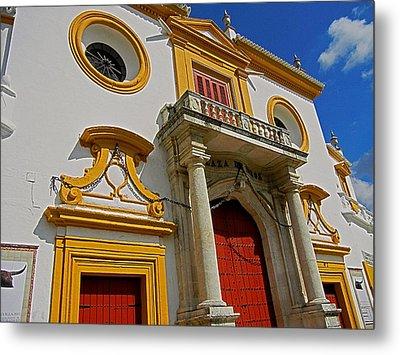 Plaza De Toros De La Maestranza - Seville  Metal Print by Juergen Weiss