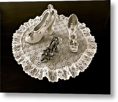 Porcelain And Lace Metal Print