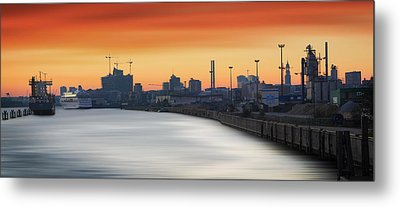 Port Of Hamburg Metal Print by Marc Huebner