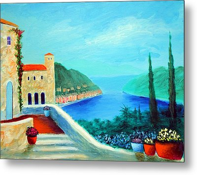 Portafino Pleasures Metal Print by Larry Cirigliano