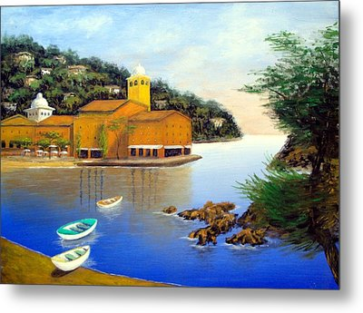 Portofino Pleasures Metal Print by Larry Cirigliano