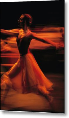 Portrait Of A Ballet Dancer Bathed Metal Print by Michael Nichols