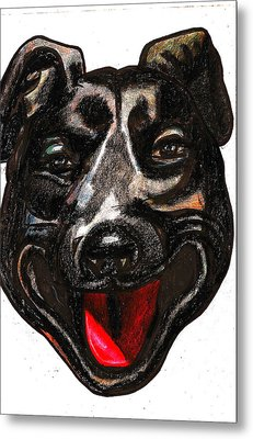 Portrait Of A Pooch Metal Print by Al Goldfarb