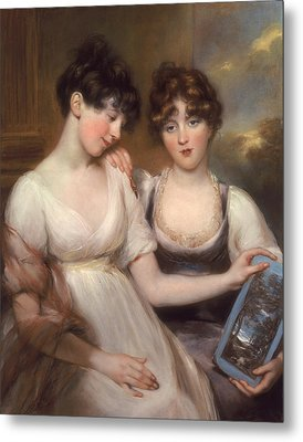 Portrait Of Anne And Maria Russell Metal Print by John Russell