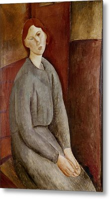 Portrait Of Annie Bjarne Metal Print by Amedeo Modigliani
