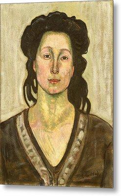 Portrait Of Jeanne Cerani Metal Print by  Ferdinand Hodler