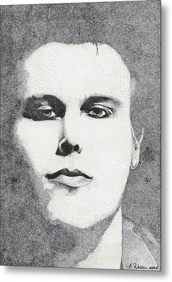 Portrait Of Ville Valo Metal Print by Alice Rotaru