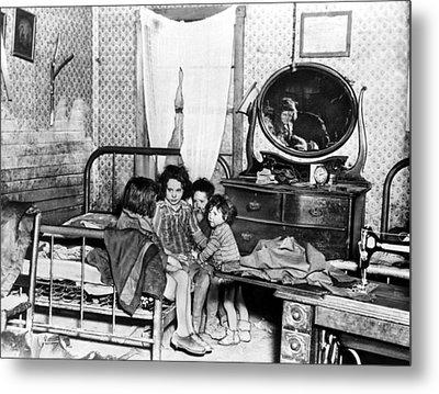 Poverty Stricken Children In A Rural Metal Print by Everett