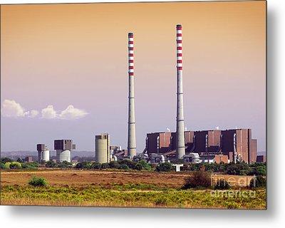 Power Plant Metal Print by Carlos Caetano