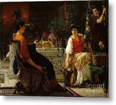 Preparations For The Festivities Metal Print by Sir Lawrence Alma-Tadema